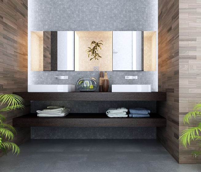 contemporary powder room in a hotel in Sydney