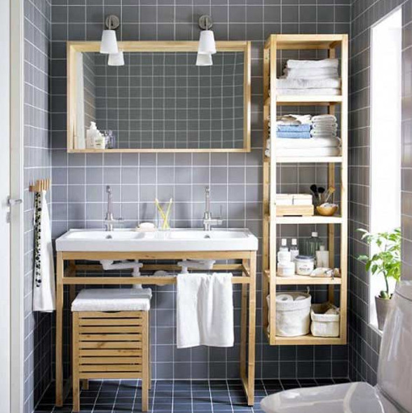 creative bathroom storage shelves