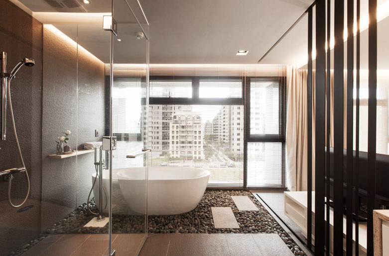 modern sleek design of a bathroom in sydney