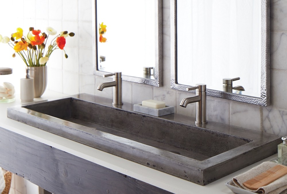 Having Concrete Sinks in Bathrooms